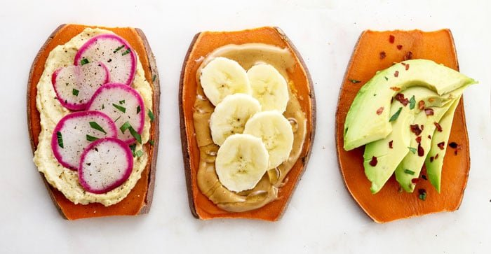 sweet potato toast toppings
