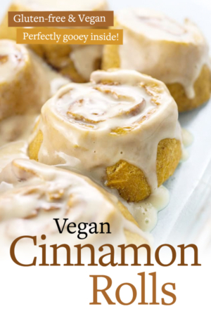 vegan cinnamon rolls pin for pinterest