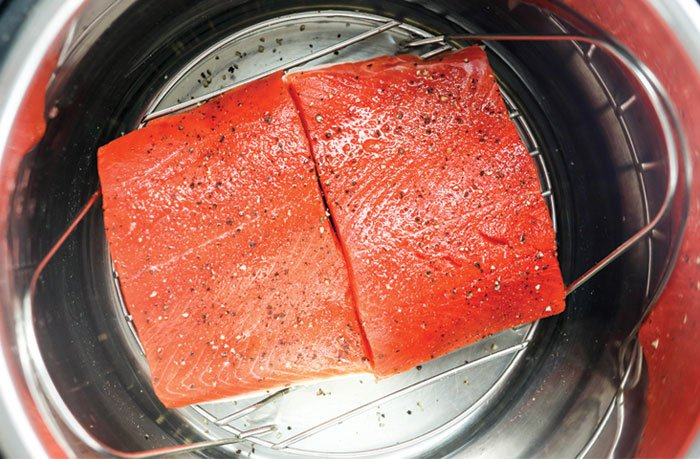 fresh or frozen salmon in the instant pot