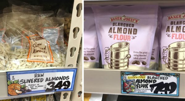 blanched almonds vs almond flour