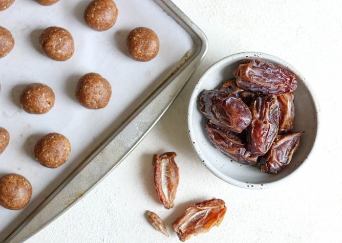dates pitted with energy balls