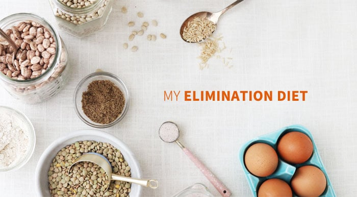 elimination diet text and foods