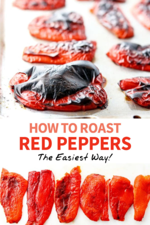 roasted red peppers pin