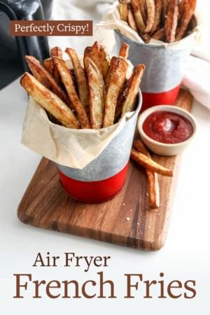 air fryer fries pin for pinterest