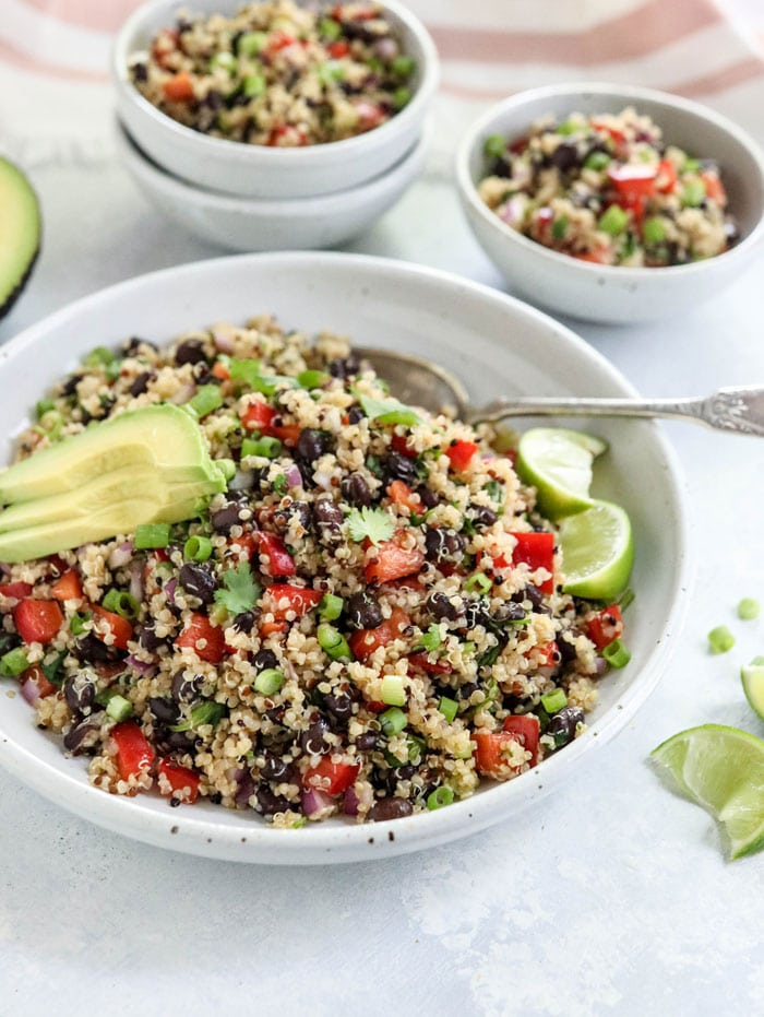 best quinoa black bean salad with avocado