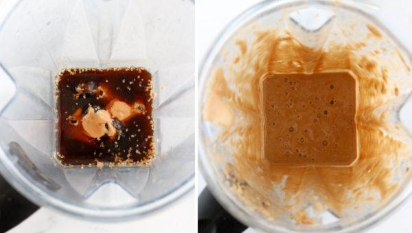 coffee smoothie ingredients in blender