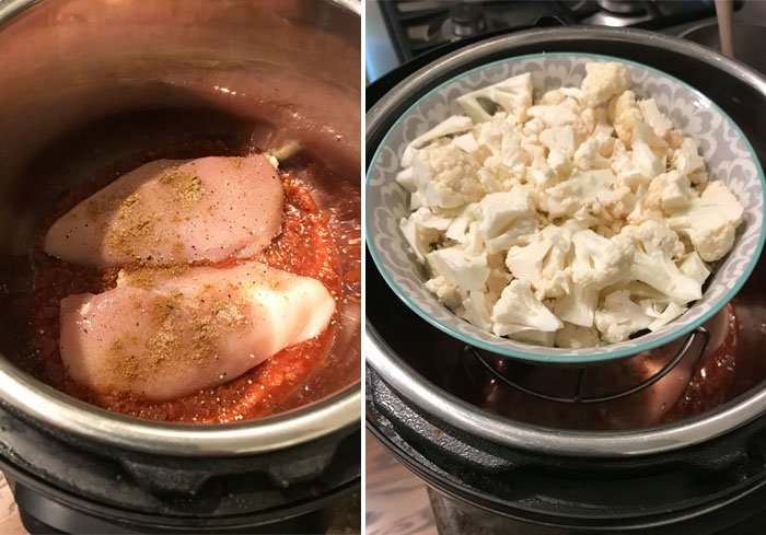 instant pot chicken cauliflower trivet