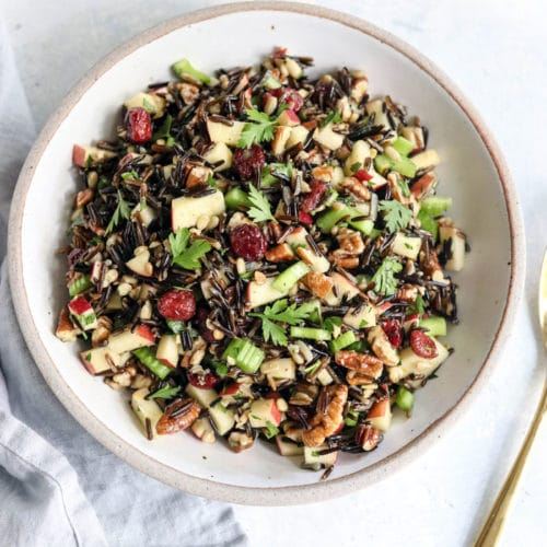 wild rice salad with apples and celery