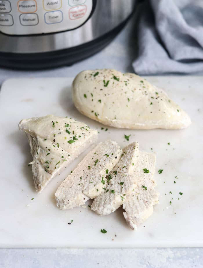 sliced chicken with instant pot