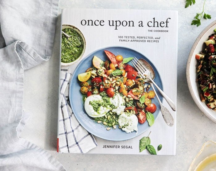 once upon a chef cookbook on a table