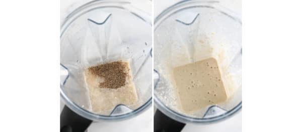 liquid ingredients in blender