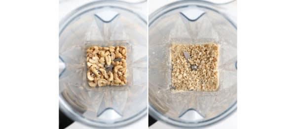 ground cashews in blender