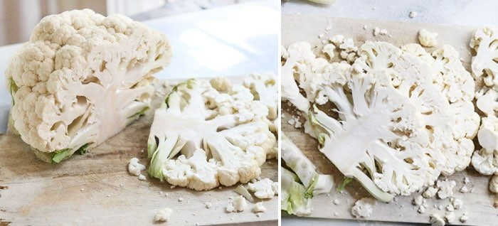 how to cut cauliflower steaks