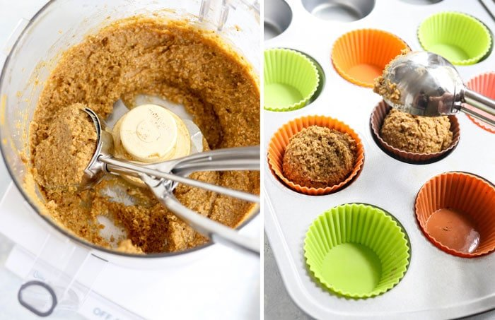 healthy muffin batter in food processor
