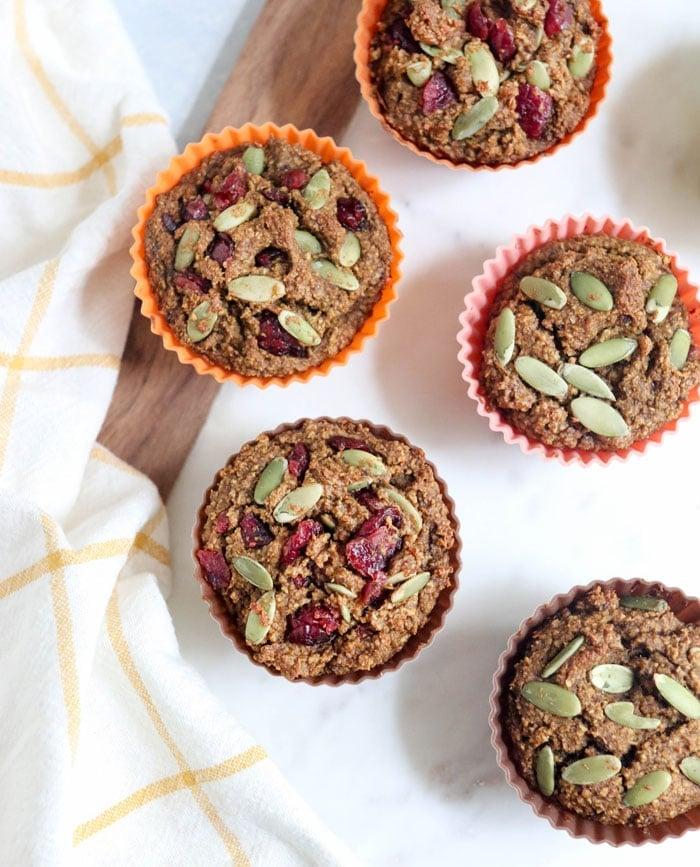 Healthy Pumpkin Oatmeal Muffins Fruit Sweetened Detoxinista