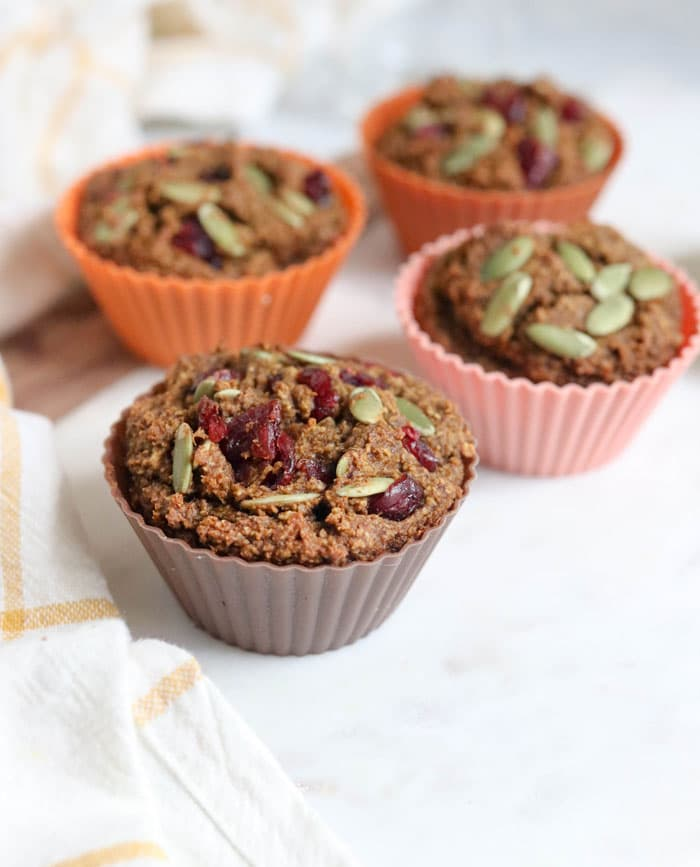 healthy pumpkin muffins fruit sweetened