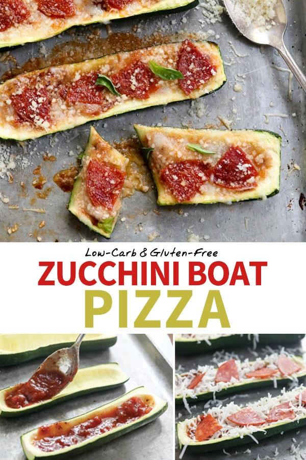 zucchini boat pizza