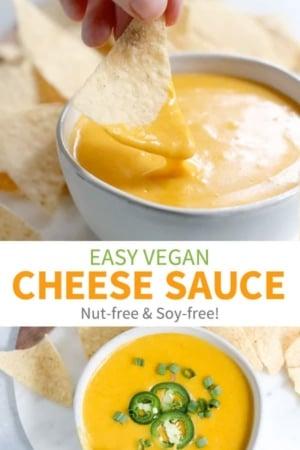 vegan cheese sauce pin