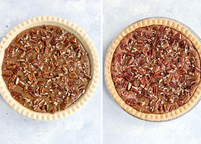 baked vs unbaked pecan pie