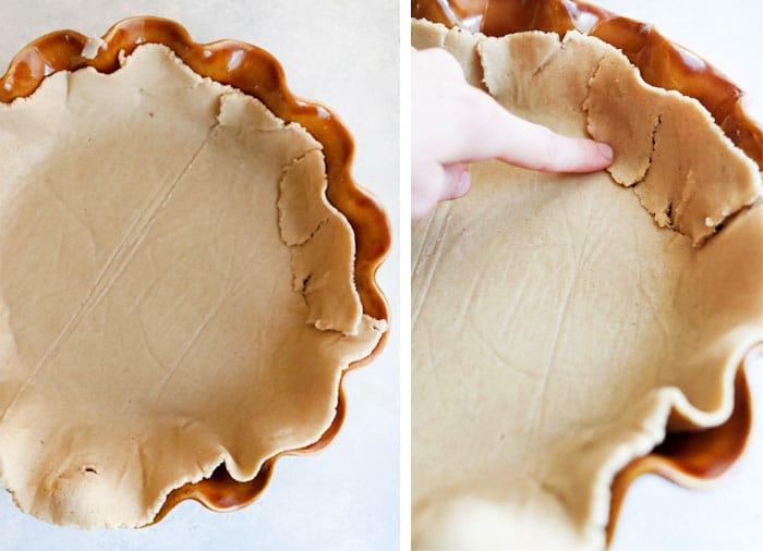 how to fix broken pie crust