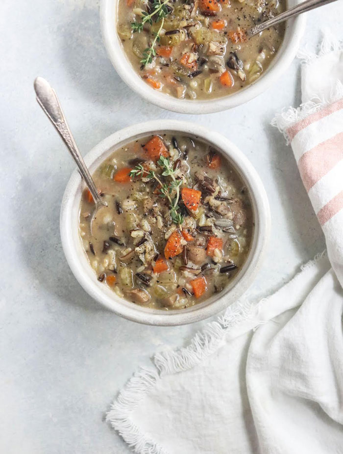 instant pot wild rice soup