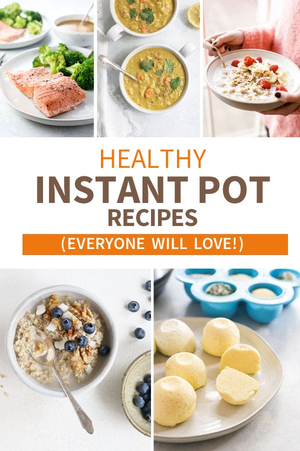 Here are 28 HEALTHY INSTANT POT RECIPES to help you get started with your pressure cooker right away! #instantpot #healthyrecipes