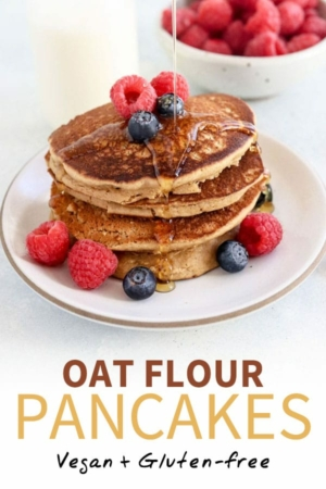 oat flour pancakes pin