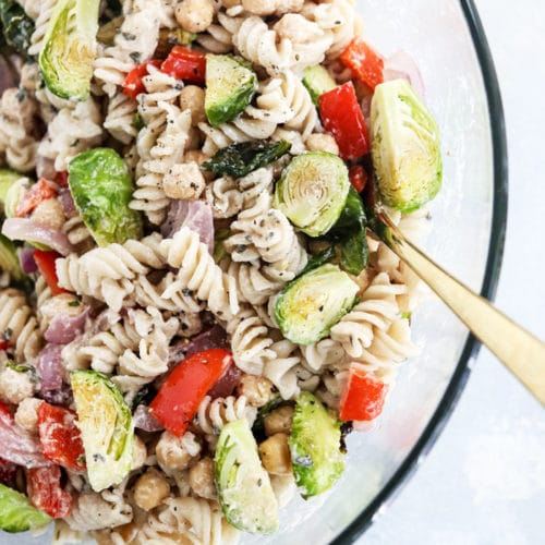 roasted vegetable pasta salad