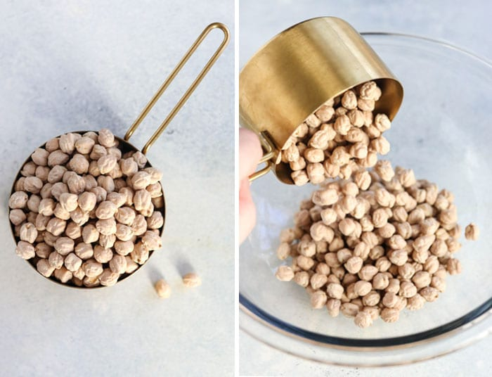 dry chickpeas cooking