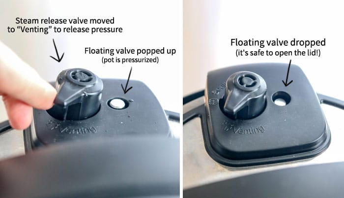 instant pot steam release valve