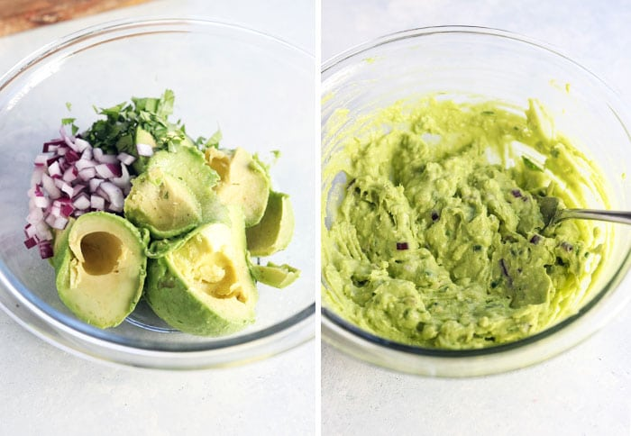 guacamole ingredient in a bowl