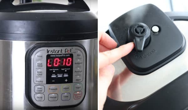 natural release screen on instant pot