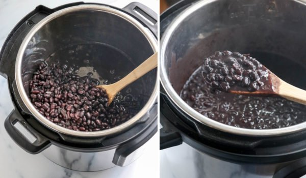 finished beans thickened in Instant Pot