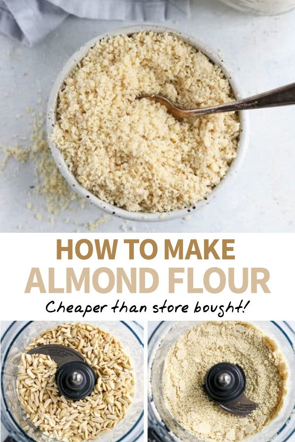 how to make almond flour Pinterest pin