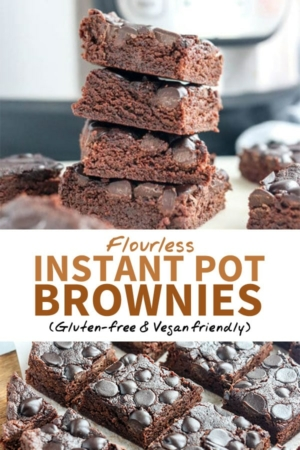 instant pot brownies for pinterest