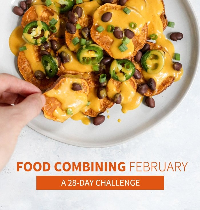 Here's a sample menu of what I ate while FOOD COMBINING. I love this mindful way of eating, because I don't feel bloated after meals and have so much MORE ENERGY during the day! #foodcombining #weightloss