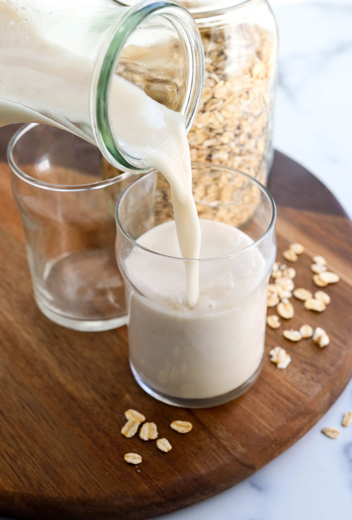 Oat Milk Recipe How To Make Oat Milk Not Slimy Detoxinista
