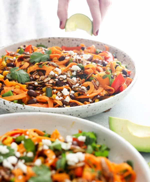 sweet potato noodles with fresh lime