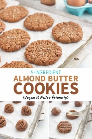almond butter cookies pin