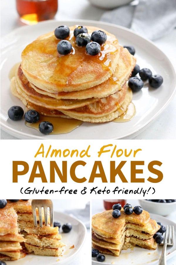 almond flour pancakes pin
