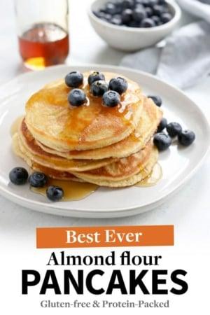 almond flour pancakes pin for pinterest