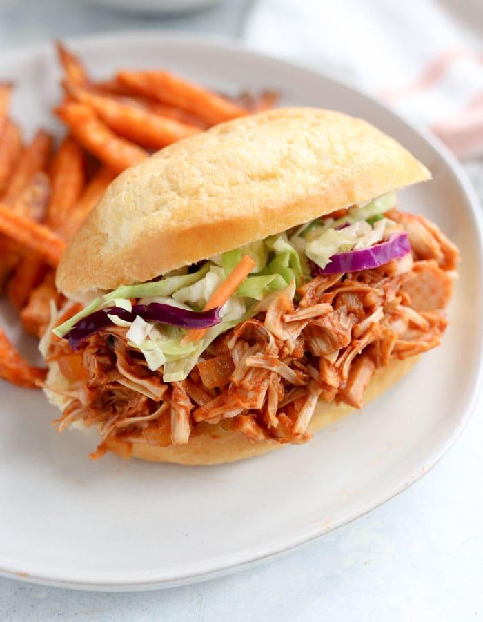 jackfruit pulled pork sandwich
