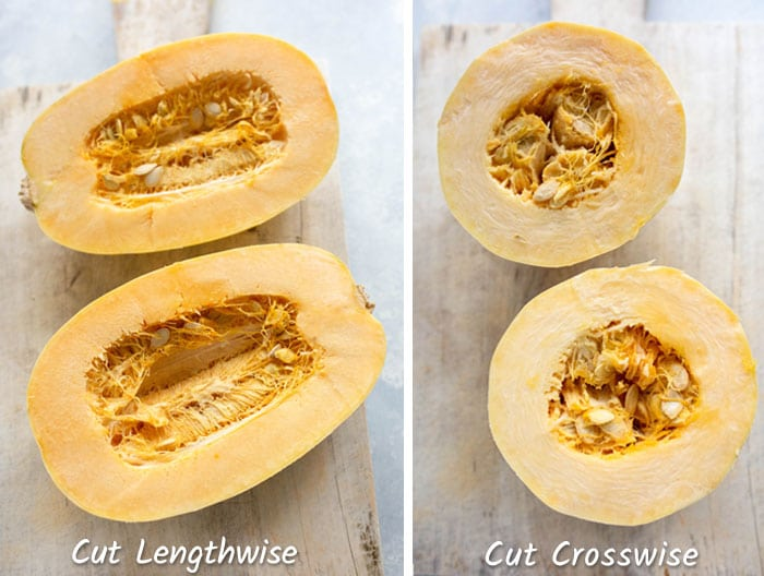 squash cut lengthwise vs crosswise