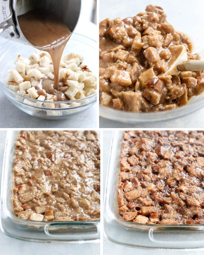 vegan bread pudding process