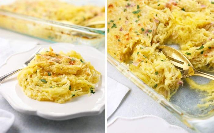 spaghetti squash pasta and casserole