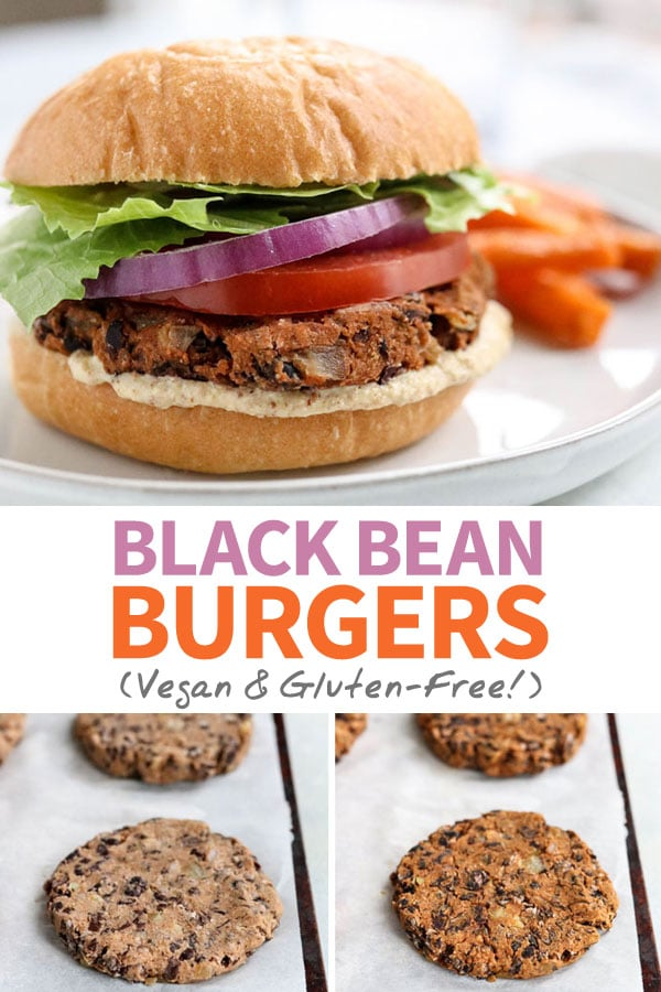 The best BLACK BEAN BURGERS, made without egg or a food processor! Includes the secret to non-mushy veggie burgers, and they're gluten-free & freeze well!