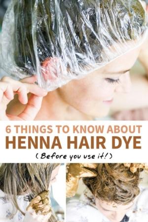 henna hair dye pin