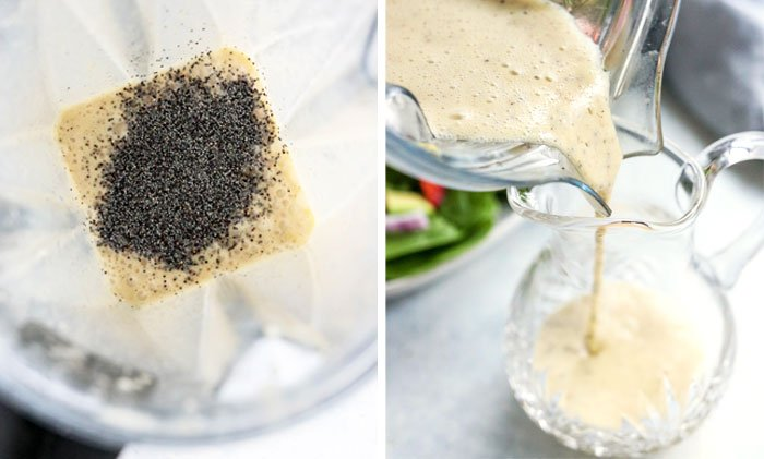 lemon poppy seed dressing in blender
