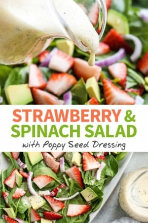 strawberry spinach salad pin