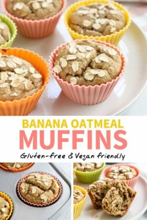 banana oatmeal muffin pin